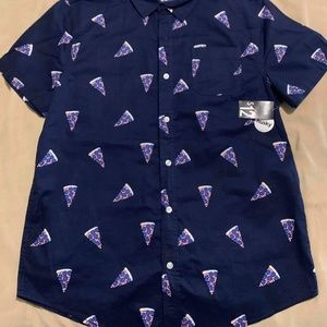 Pizza button up